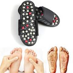 Массажные тапочки Massage Slipper (р-р 44-45) Черные